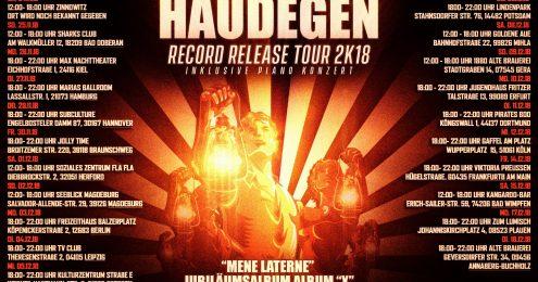 Record Release Tour 2K18 inklusive Piano Konzert (Eintritt Frei)