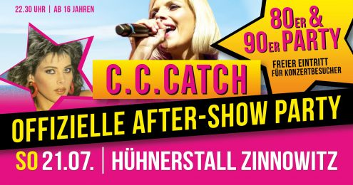 80er & 90er Party - Die offizielle C.C. Catch After Show Party